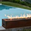 Galio Corten Gas Fireplace by Planika