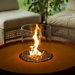 Galio Corten Insert Gas Fireplace by Planika