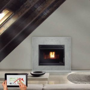 ecoforest cordoba ducted air insert pellet fireplace